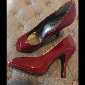 MODA Red Patent Heels